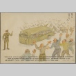 Painting of internees leaving Santa Fe Internment Camp (ddr-manz-2-37)
