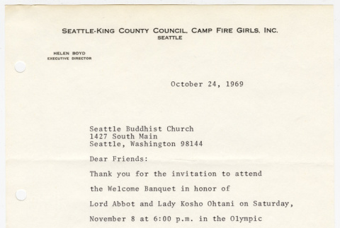 Letter from Helen Boyd to the Seattle Buddhist Church (ddr-sbbt-6-56)