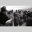 Pilgrimage ceremony in front the Manzanar Cemetery Momunent (ddr-manz-3-13)