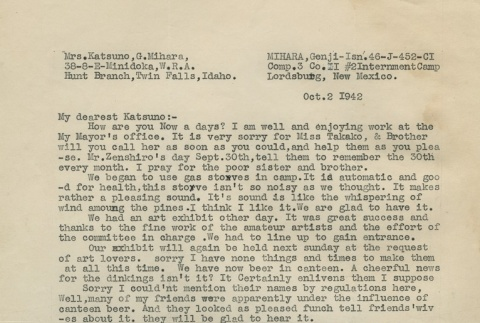 Letter from Issei man to wife (October 2, 1942) (ddr-densho-140-137)