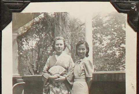Japanese Consul General's wife with student (ddr-densho-259-507)