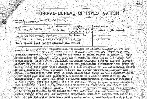 Excerpts from an FBI report on the Fair Play Committee (ddr-densho-67-74)