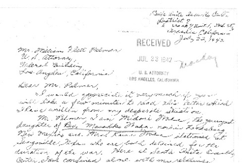 Letter requesting reunification with Issei parents (ddr-densho-157-180)