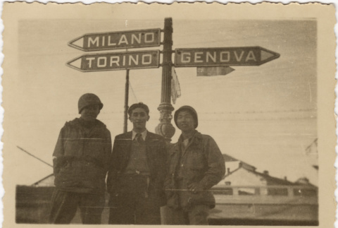 Soldiers in Italy (ddr-densho-420-12)