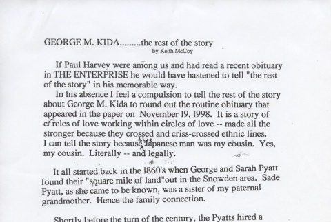 George M. Kida: the rest of the story (ddr-one-3-106)