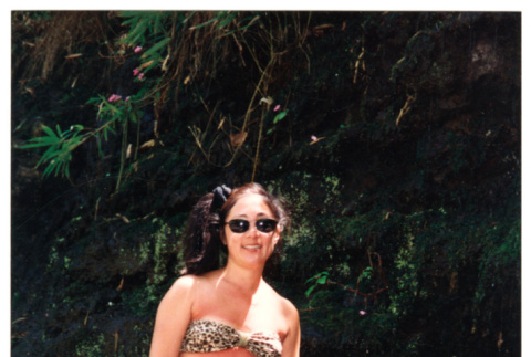 Young woman in sunglasses and swim wear (ddr-densho-368-317)