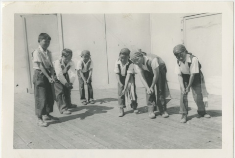 Group of children dressed as pirates (ddr-manz-7-7)