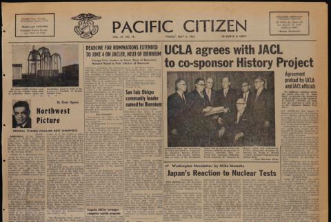 Pacific Citizen, Vol. 54, No. 18 (May 4, 1962) (ddr-pc-34-18)