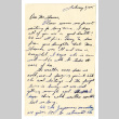 Letter from Usami Terada to Mr. A.W. Thomas, February 7, 1945 (ddr-csujad-4-23)