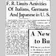 F. R. Limits Activities of Italians, Germans and Japanese in U. S. (December 9, 1941) (ddr-densho-56-528)