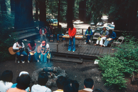 Campers preparing for communion on the last day (ddr-densho-336-1354)