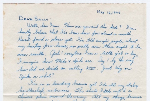 Letter to Sally Domoto from Kan Domoto (ddr-densho-329-168)