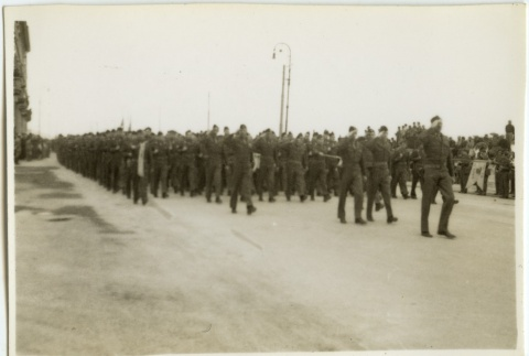Soldiers marching in formation (ddr-densho-201-121)
