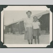 Woman and girl in camp (ddr-densho-321-128)