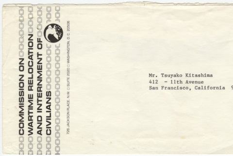 Letter (with envelope) and copy of Tsuyako