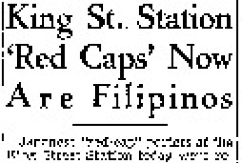 King St. Station 'Red Caps' Now Are Filipinos (March 9, 1942) (ddr-densho-56-679)