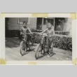 Two boys on bicycles (ddr-densho-242-8)