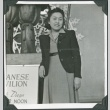 A woman in front of the Japan Pavilion at the Golden Gate International Exposition (ddr-densho-300-224)
