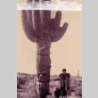 A woman and child standing next to a cactus (ddr-densho-315-26)