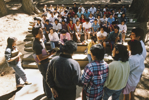 Campers during communion on the last day of camp (ddr-densho-336-1789)