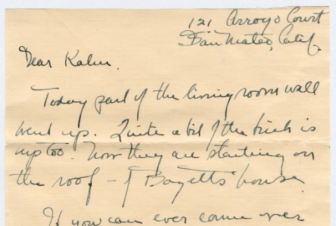 Letter to Kan Domoto from Hulda and Blaine (ddr-densho-329-398)