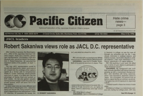 Pacific Citizen, Vol. 122, No. 9 (May 3-16, 1996) (ddr-pc-68-9)
