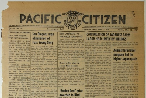 Pacific Citizen, Vol. 44, No. 19 (May 10, 1957) (ddr-pc-29-19)