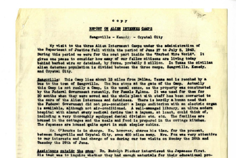 Report on Alien Internee Camps (ddr-csujad-18-7)