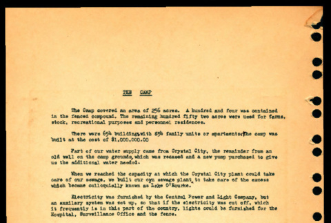 Description of Crystal City Department of Justice Internment Camp (ddr-csujad-55-1355)