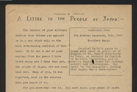 Letter to the people of Japan (ddr-csujad-55-2574)
