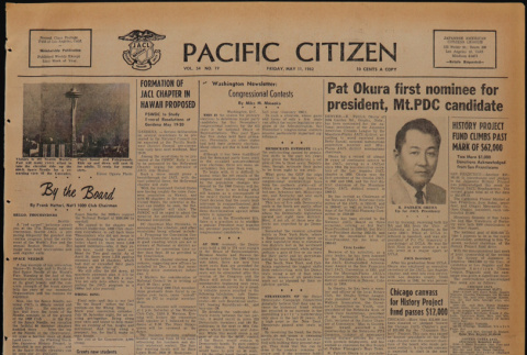 Pacific Citizen, Vol. 54, No. 19 (May 11, 1962) (ddr-pc-34-19)