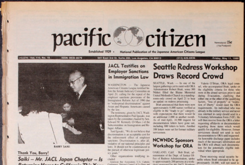 Pacific Citizen, Vol. 110, No. 18 (May 11, 1990) (ddr-pc-62-18)