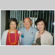 Bill and Tomi Iino with woman at reunion (ddr-densho-368-434)