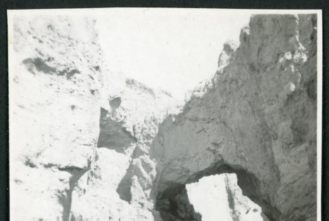 Photograph of three people walking in Natural Bridge Canyon in Death Valley (ddr-csujad-47-151)