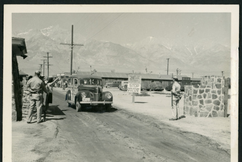 Departure by WRA Escort in Station Wagon en Route to Reno (ddr-csujad-47-6)
