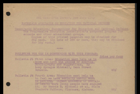Materials available on education for national defense, undated (ddr-csujad-55-1739)