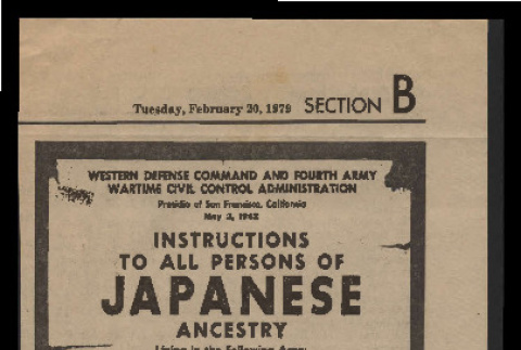 Instructions to all persons of Japanese ancestry (ddr-csujad-55-2389)