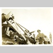 Soldiers on a tank and motorcycle (ddr-densho-22-215)