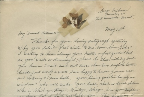 Letter from Issei man to wife (May 10, 1942) (ddr-densho-140-84)