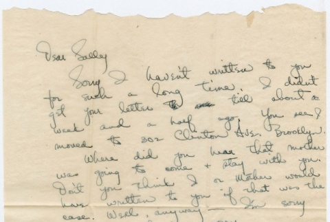 Letter to Sally Domoto from Andy (ddr-densho-329-296)