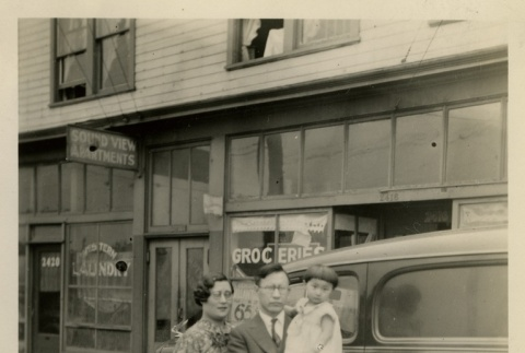 Business owner with family (ddr-densho-113-51)