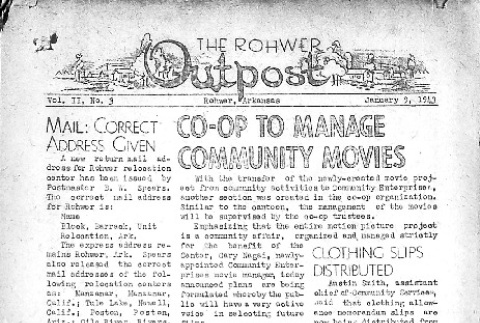Rohwer Outpost Vol. II No. 3 (January 9, 1943) (ddr-densho-143-22)