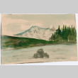 Painting of lake and mountain scene (ddr-densho-26-261)