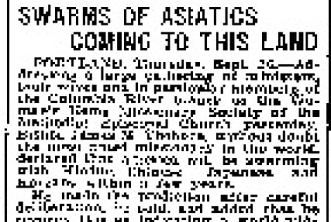 Swarms of Asiatics Coming to This Land (September 26, 1907) (ddr-densho-56-104)