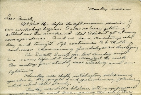 Letter from a camp teacher to her family (ddr-densho-171-8)