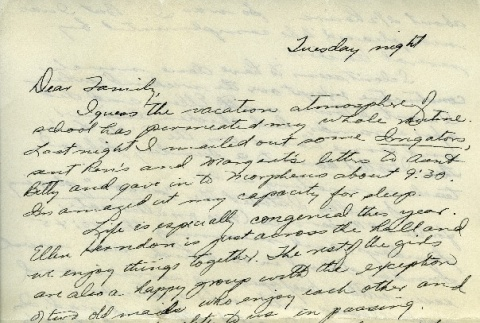 Letter from a camp teacher to her family (ddr-densho-171-29)