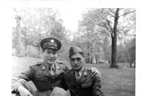 Japanese American soldiers in US Army uniform (ddr-csujad-25-111)