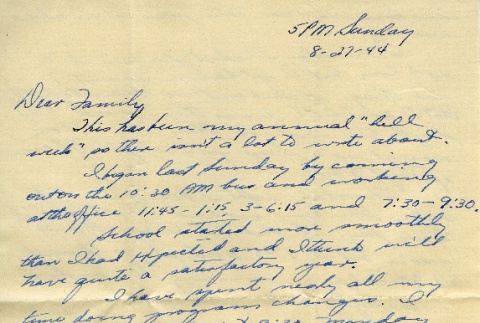 Letter from a camp teacher to her family (ddr-densho-171-55)
