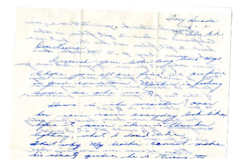 Letter from Emiko [Amy] Terada to Miss Laura Thomas, May 2, 1944 (ddr-csujad-4-20)