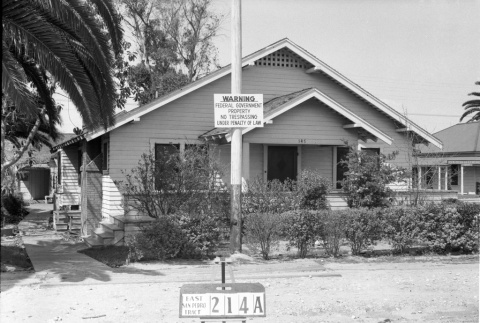 House labeled East San Pedro Tract 214A (ddr-csujad-43-110)